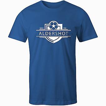 Aldershot by 1992 etableret badge børn fodbold t-shirt