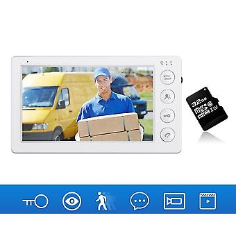 7 Inch Video Intercom Monitor For The Apartment For Home Village Security