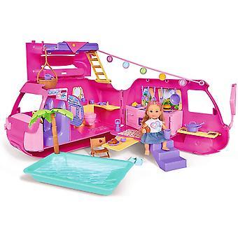 105733275 - Evi Love Ferienspaß Wohnmobil / Aufklappbares Wohnmobil / Mit über 40 Teilen / Puppe