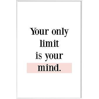 JUNIQE Print - Your Limit - Quotes & Slogans Poster in Black & White