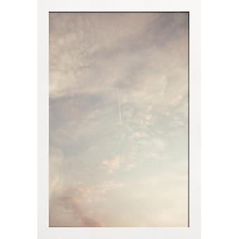 JUNIQE Print - Creamy Skies - Sky & Clouds Poster in Cream White & Grey