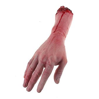 1pc Severed Scary Cut Off Bloody Fake Latex Life Size Arm Hand Halloween Prop Haunted Party Decoration