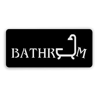 Zwart badkamer & douche acryl deurteken