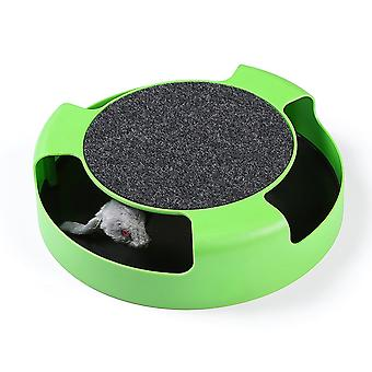 Catch The Mouse Cat Toy Plush Moving Scratching Claw Care Mat Play Scratch