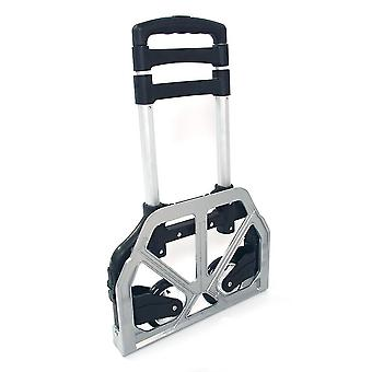 bærbar sammenleggbar sammenleggbar aluminium vogn dolly push lastebil tralle svart