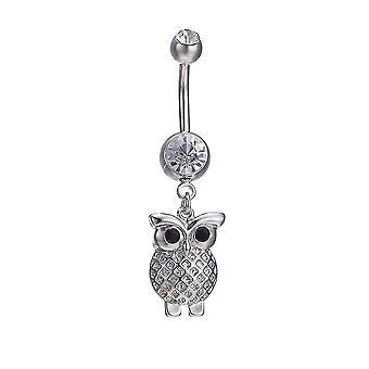 Belly Button Rings White K Owl Piercing Ring Navel Nombril
