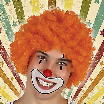 Krøllet hår paryk 119755 Orange