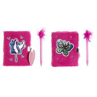 Notebook DKD Home Decor Pink (2 Stück) (16,5 x 30 x 16,5 cm)