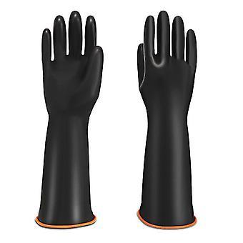 Heavy Duty Chemical Resistant Acid Oil Resistant Latex Gloves