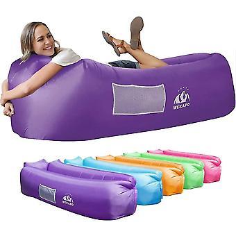 Inflatable Sofa Beach Camping Sleeping Air Sofa(Purple)