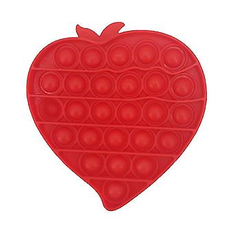 Láska Srdce Extruze Fidget Hračky Silikon Push Pop Bublina Stress Relief Hračky