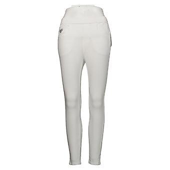 Quacker Factory Women's Leggings Reg DreamJeanne Short White A393168