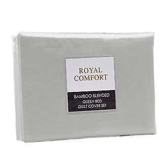 Quilt Cover Set Ultra Soft Luxury Bedding Portland Grey