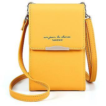 Ein-Schulter-Handy-Geldbörse Damenmode Mini-Tasche (Gelb)
