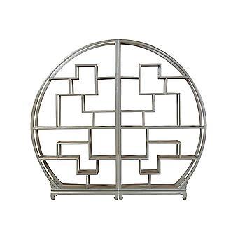 Прекрасный азиатскийживной китайский круглый открытый витрина оливково-серый W176xH192cm