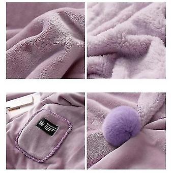 Blanket Shawl Cloak Lazy Blanket Lunch Break Small Blanket(Purple)