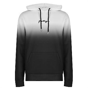 Hype Mens Black White Fade Scribble Logo Pullover Bluza z kapturem OTH Kangaroo Bluza z kapturem Top