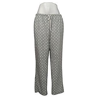 Aria Women's Novelty Printed Fleece Pajama Pants Gray 631033
