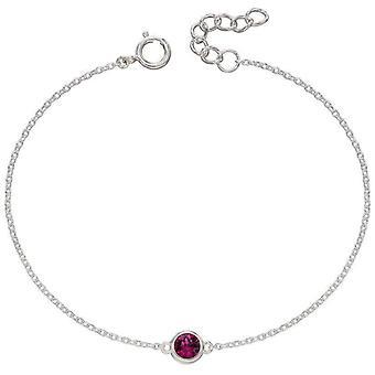 Début Février Bracelet Pierre de Naissance - Argent/Violet
