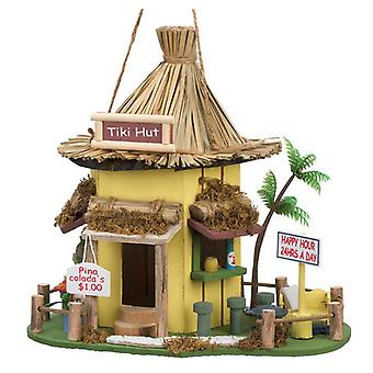 Songbird Valley Tiki Hut Bar Thatched-Roof Bird House, Pack of 1