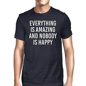 كل شيء رائع لا أحد الرجال سعيد البحرية قمصان تي شيرت مضحك