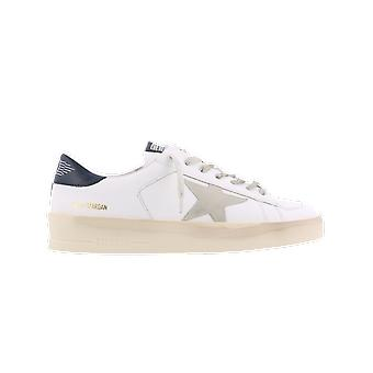Golden Goose Stardan Leather Upper Suede St White GMF0012810220/ICE/ shoe