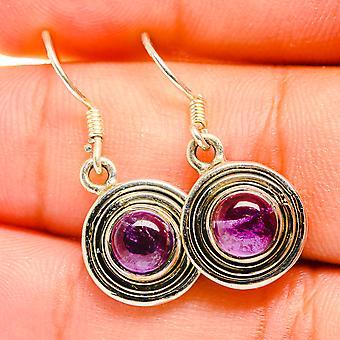 """Amethyst Earrings 1/2"""" (925 Sterling Silver)  - Handmade Boho Vintage Jewelry EARR419792"""