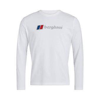 Berghaus organic big logo long sleeve t-shirt - white