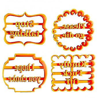 Pot planter liners cookie molds with good wishes cookie form with fun and irreverent phrases cookie moulds for