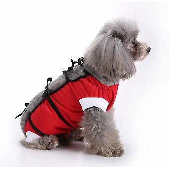 Pet Clothing, Dog Clothing, Sterilization Clothing, Dog Rehabilitation Clothing, Pet Injury Protective Clothing, Pet Supplies (red, S)