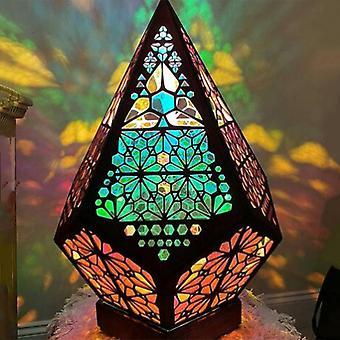 Böhmisches Mosaik Sternenhimmel Bodenprojektionen Lampe Tisch Nachttisch Licht