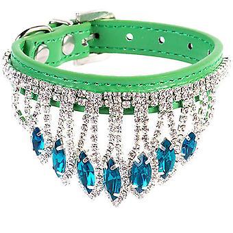hund katt rhinestones smykker krage anheng justerbar krystall halskjede, kjæledyr gave