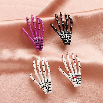 Halloween Koponya kézi csont hajtű fejfedő 4 részes készlet