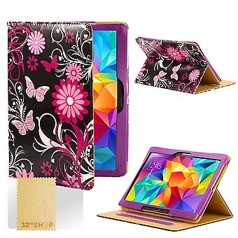 Design Buch Case Cover für Samsung Galaxy Tab S 8,4-Zoll Tablet - Gerbera