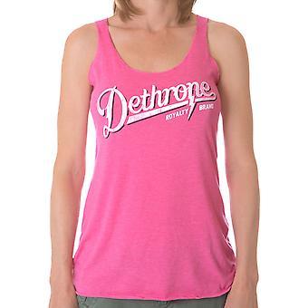 Dethrone Women's Script Tank Top - Pink