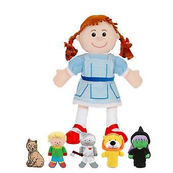 Fiesta Crafts Wizard Of Oz main et jeu de marionnette de doigt