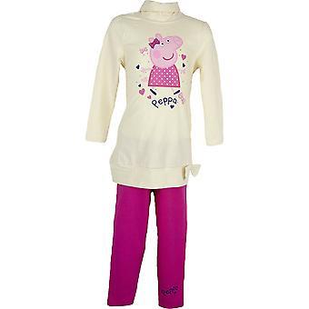 Lányok Peppa sertés ruházat beállítása TunicDress & Leggings NH6110. I06