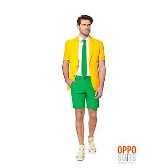 Opposuit été costume vert et or de 3 pièces premium UE tailles l'Australie slimline hommes