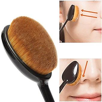 2 X Boolavard® Oval Makeup Brush Cosmetic Foundation Cream Powder Blush Makeup Tool + Travel Caps