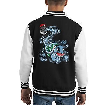 Schiggy Pokeball Pokemon Kid Varsity Jacket
