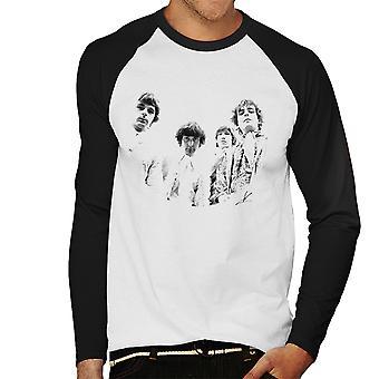 Pink Floyd Ruskin Park schießen 1967 schwarz / weiß Herren Baseball T-Shirt Langarm