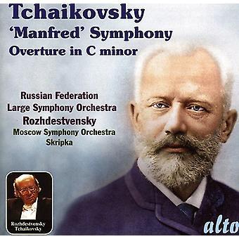 P.I. Tchaikovsky - Tchaikovsky: Manfred Symphony; Overture in C Minor [CD] USA import