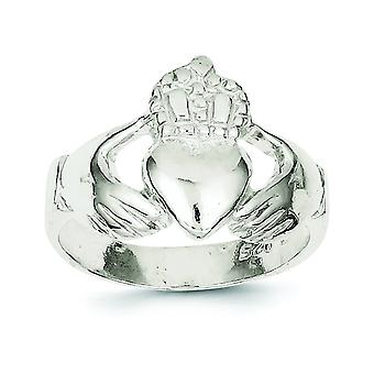925 Sterling Silver Solid Polished Irish Claddagh Celtic Trinity Knot Ring Jewelry Gifts for Women - Ring Size: 6 to 8