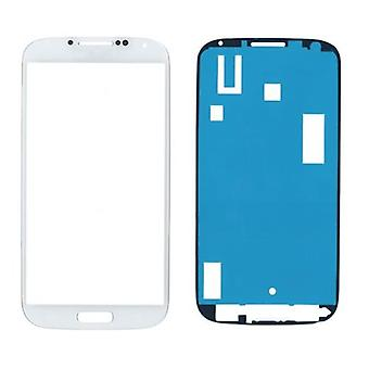 سامسونج غالاكسي S4 i9500 الزجاج//عرض الشاشة مع ملصق أبيض