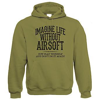 Leven zonder Airsoft Mens grappige Hoodie