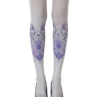 Zohara ZOF423-LGMC vrouw Alice In Wonderland grijs Fashion Panty 's