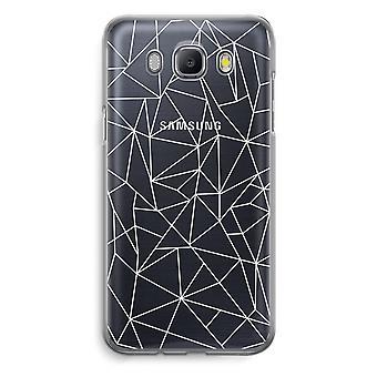 Samsung Galaxy J5 (2016) Transparent Case (Soft) - Geometric lines white