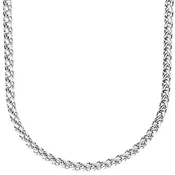 Sterling 925 Silver bling wheat chain - SPIGA 4 mm