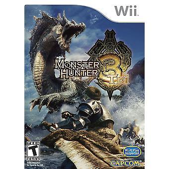 Nintendo Wii monster hunter 3 tri gra