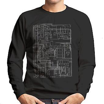 Apple II Computer Schematic Men's Sweatshirt